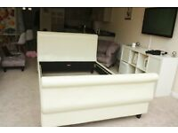 White sleigh bed for sale
