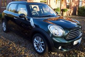 Beautiful MINI COUNTRYMAN COOPER D ALL4 AUTO, Diesel, FSH, One owner, 62 plate,41000mls. Immaculate!