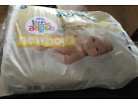 Half a pack of little angel newborn nappies. Free.