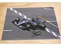 3 X Lewis Hamilton hand signed Formula 1 photos 10x8 with Coa