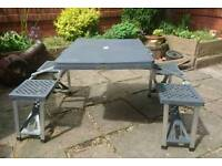 Folding picnic / camping table and chairs