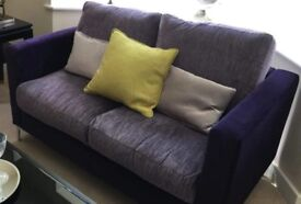2 seater purple sofa - AS NEW!