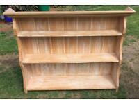Limed oak wall mounted shelving unit