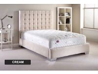 Brand new cream super king size bed frame only no mattress