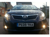 Toyota Avensis Estate 2.0 D-4D T-SPIRIT PRIVATE HIRE plate, motorway mileage
