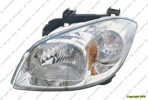 Head Lamp Driver Side Smokey Housing With Clear Lens High Quality (With Bracket) Chevrolet Cobalt 2008-2010