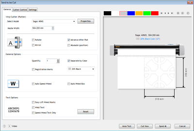 Easy to Use Vinyl Cutter Software for Sign Cutting Plotters VinylMaster CUT V4 1