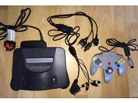 NINTENDO 64 games console, controller and 6 games BUNDLE
