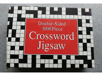 Double-sided 1000 piece Crossword Jigsaw