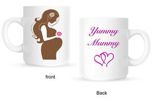 Baby Shower Yummy Mummy Mug hearts New Mum to be