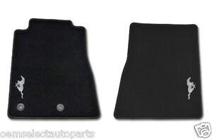 OEM NEW 2013-2014 Ford Mustang Floor Mats w/ PONY Embroidered Emblem Logo- BLACK