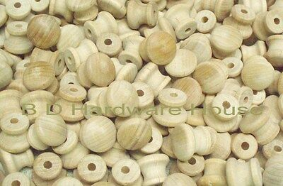 """3/4"""" Small Mushroom Style Wood Cabinet Drawer Knob.... Order 10 to 100 Knobs"""