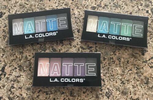 L.A. Colors 5 Color Matte Eyeshadow, Purple Cashmere, 0.08 O
