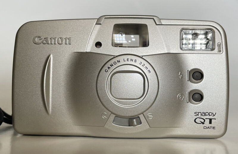 Canon Snappy QT 35mm Point & Shoot Film Camera -Semi Tested - Read Description