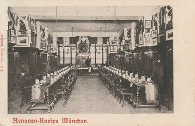Studentika 1905 Aenania München Couleurkarte Cartellverband Studentika Kneipe