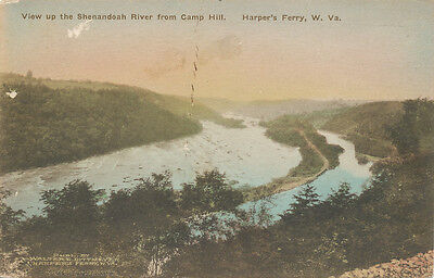Harpers Ferry Wv   Shenandoah River From Camp Hill 1920   Walter Dittmeyer Pub