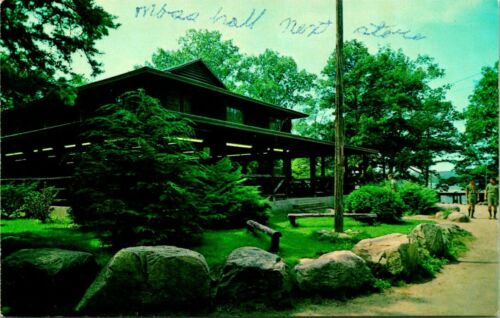 Vintage Postcard  ROCKVILLE R. I.  BOY SCOUTS  YAWGOOG CAMP  SHARPE DINING HALL