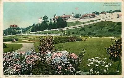 Postcard The Old Fort, Mackinac Island, Michigan - used in 1909