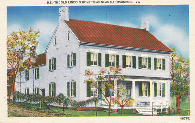 Harrisonburg VA * Old Lincoln Homestead  ca. 1940