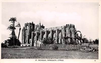 FAMAGUSTA, CYPRUS ~ ST NICHOLAS CATHEDRAL, REAL PHOTO PC, c. 1930-40's