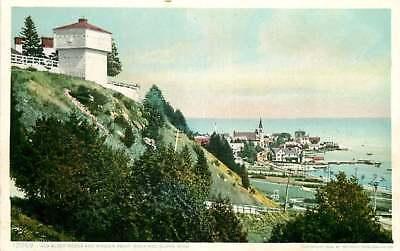 Postcard Old Block House & Mission Point, Mackinac Island, Michigan