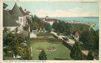Postcard  West End Cottages, Mackinac Island, Michigan - circa 1909