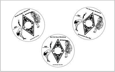 3 VOLUME DVD Hung Gar Workshops with Grandmaster Chiu Wai.