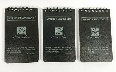 3 X Rite In The Rain 735 3x 5 Top Black All-weather Warriors Notebook Custom
