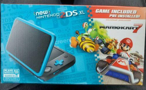 Nintendo 2DS XL Handheld Console w/ Mario Kart 7 Pre-installed Black/Turquoise