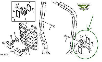 John Deere 3720 4105 4200 4300 4400 4500 Complete Lh Tail Light Lva14365 New Oem