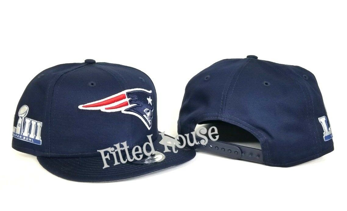068b1258f34018 New England Patriots New Era Super Bowl LIII 53 Side Patch 9Fifty snapback  Hat