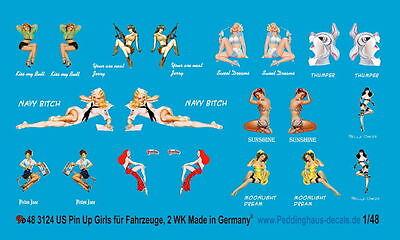 Peddinghaus 3124 1/48  Pin Up Girls für US Fahrzeuge und Panzer