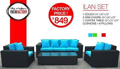 Outdoor wicker patio furniture all weather rattan sofa set w/cushions best (Best Wicker Furnitures)