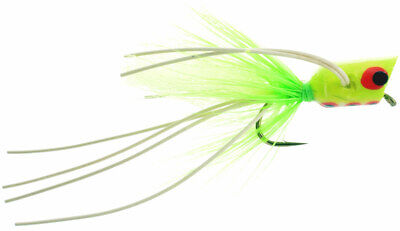Bass, Pike, Trout, Muskie Swimming Frog Orange Belly Fly Fishing Flies x 3