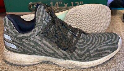 Adidas Harden Vol 1 LS PK Olive Green  AH2113 - Mens Size 10.5 Basketball Shoes