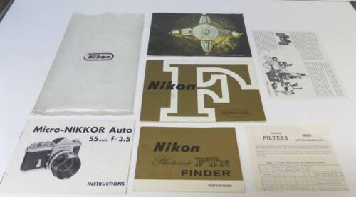 Original Vintage NIKON Camera Manuals & Paperwork / Great Vintage NIKON Lot !!