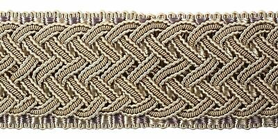 "HOULÈS Braid 45 mm (1""3/4) Antique Gold, Marly 32421-9108 Luxury Trimming"