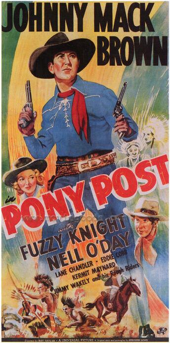 PONY POST Movie POSTER 27x40 Johnny Mack Brown Fuzzy Knight Nell O