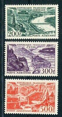 D183502 France Air Post MNH 1949-50 Sc. C24-C26 3 Values Air Views