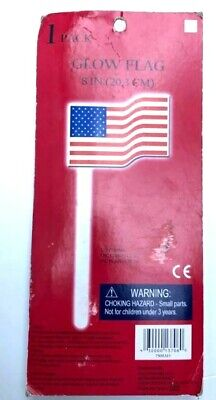 Dark Flags Made in the USA Polyester 8 inch Wooden Stick (Glow In The Dark-flags)