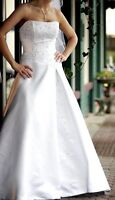 Alfred Sung strapless lace-up wedding gown sz 6-8