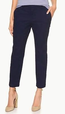 NEW NWT Womens GAP Slim City Cropped Crop Pant Pants Stretch Navy Uniform *G9