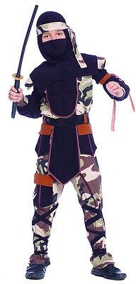 Jungen Tarnfarbe Ninja Soldaten Anzug Kostüm Kinder Armee Gi Joe ()