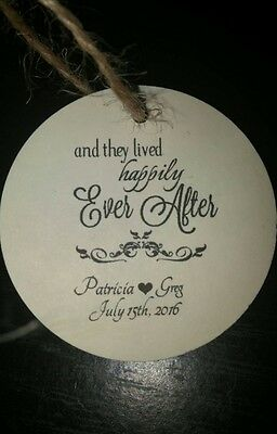 Personalized Wedding Favor Tags Happily Ever After Thank You Tags