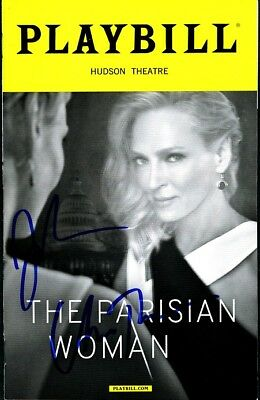 THE PARISIAN WOMAN In-person Signed Playbill by UMA THURMAN & JOSH LUCAS