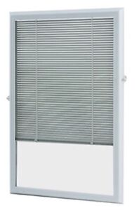 ODL White Aluminum Add-on Blind for Half View Doors