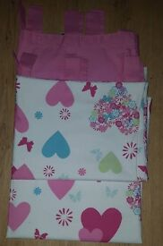 """Girls bedroom lined tab top curtains 64""""Lx54""""W"""