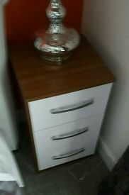 Bedside tables x2