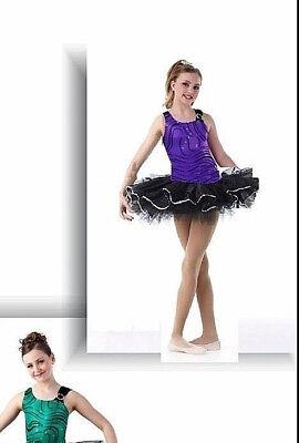 Neu Violett Metallisch Ballett Tutu Tanzkostüm für Erwachsene, Großes, Kinder L,