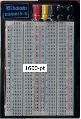 Fcbusa 2x 1660-pt Breadboard With 3 Power Post From Michigan Usa Large
